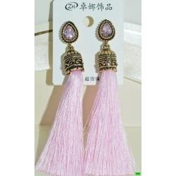 сережки (08-50) рожевий 1шт.