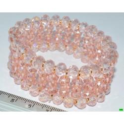браслет (01-37) розовый 1шт.