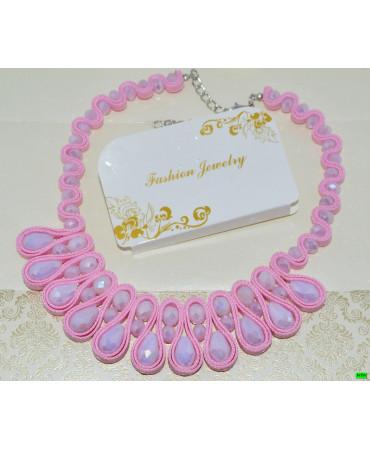 бусы (01-20) розовый 1шт.