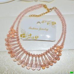 бусы (01-22) розовый 1шт.