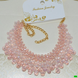 бусы (01-23) розовый 1шт.