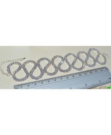 браслет (01-40) серебро 1шт.