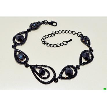 браслет (01-72) чёрный 1шт.