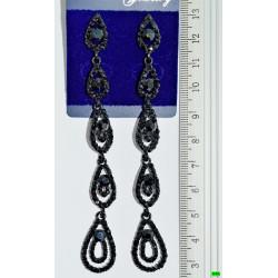 сережки (01-74) чёрный 1шт.