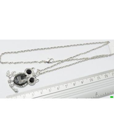 кулон (01-09) серый 1шт.