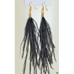 сережки (08-60) м чёрный 1шт.