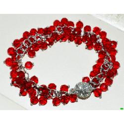 браслет (01-89) красный 1шт.