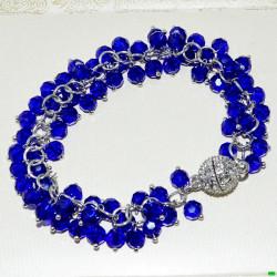 браслет (01-89) синий 1шт.