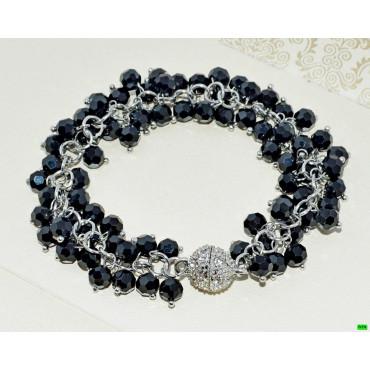 браслет (01-89) чёрный 1шт.