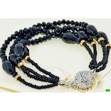 браслет (01-90) чёрный 1шт.