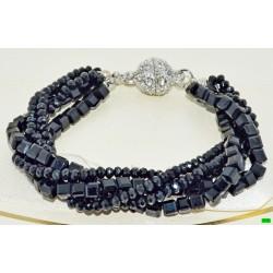 браслет (01-91) чёрный 1шт.