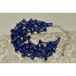 браслет (01-10) синий 1шт.