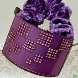 резинка (04-42) фиолет 1шт.