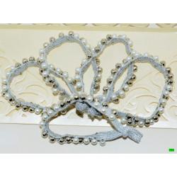 резинка (03-98) срібло 5шт.