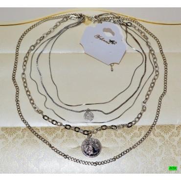 кулон (01-31) серебро 1шт.