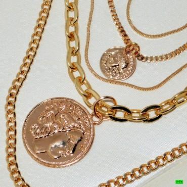 кулон (01-31) золото 1шт.