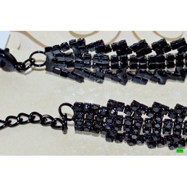 браслет (01-64) чёрный 1шт.