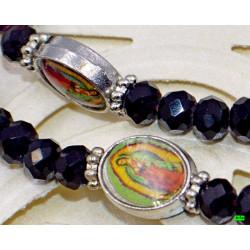 серьги (06-88) фиолет 1шт.