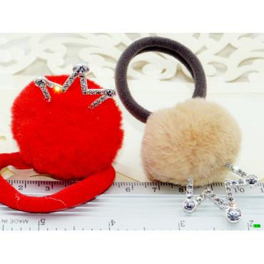 детская резинка (02-07) корона 6шт.