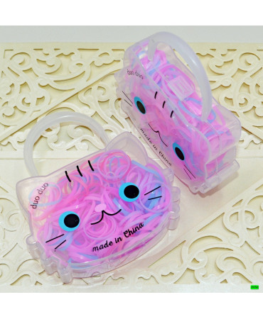 Детская резинка (02-12) розовая 3шт.