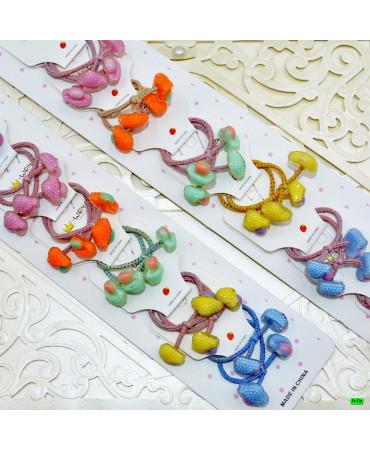 Детская резинка (02-82) грибочек 20шт.