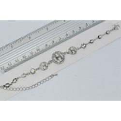 браслет (01-31) серебро 1шт.