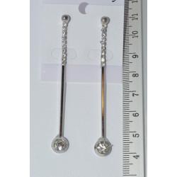 серьги (03-62) серебро 1шт.