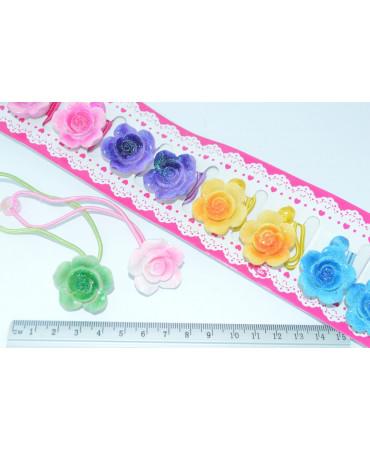 Детская резинка (01-12) роза 12шт